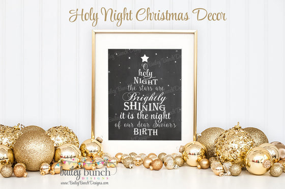 Holy Night Wall Art, Christmas, Home Decor - INSTANT DOWNLOAD IDHOLYCLK0520