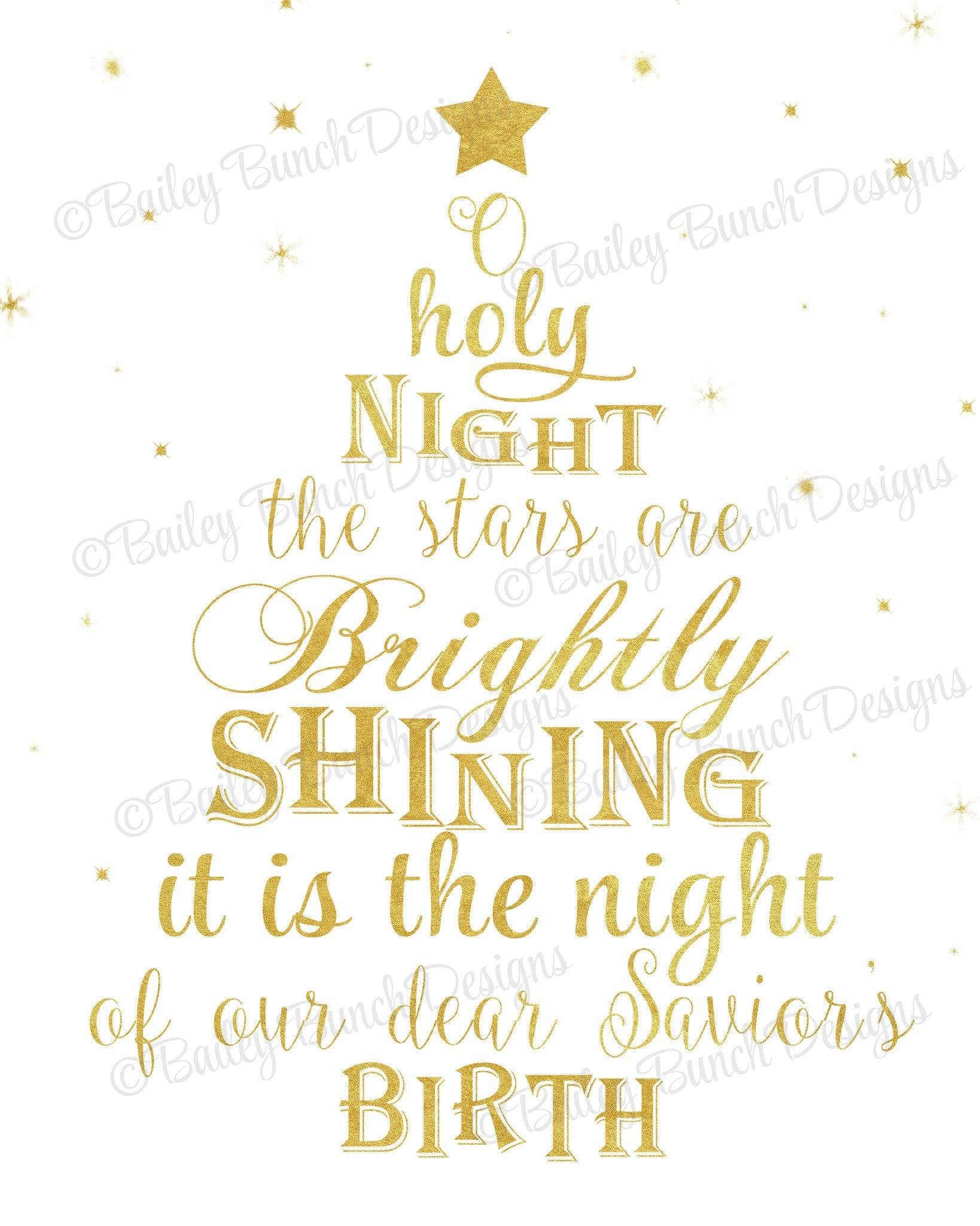 Holy Night Wall Art, Christmas, Home Decor - INSTANT DOWNLOAD ...