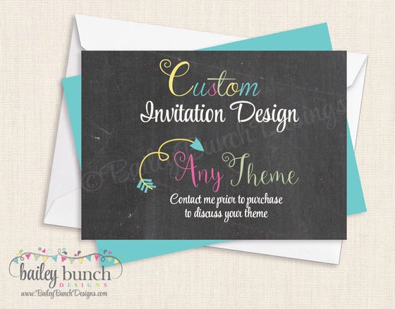 Custom Invitations CUSTOMINVITE0520