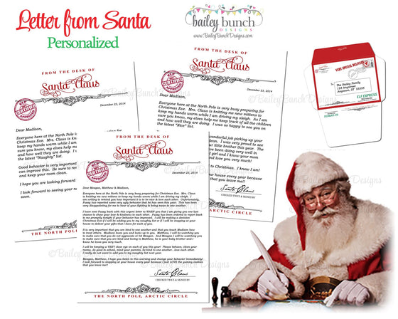 Personalized Letter from Santa LETTER0520