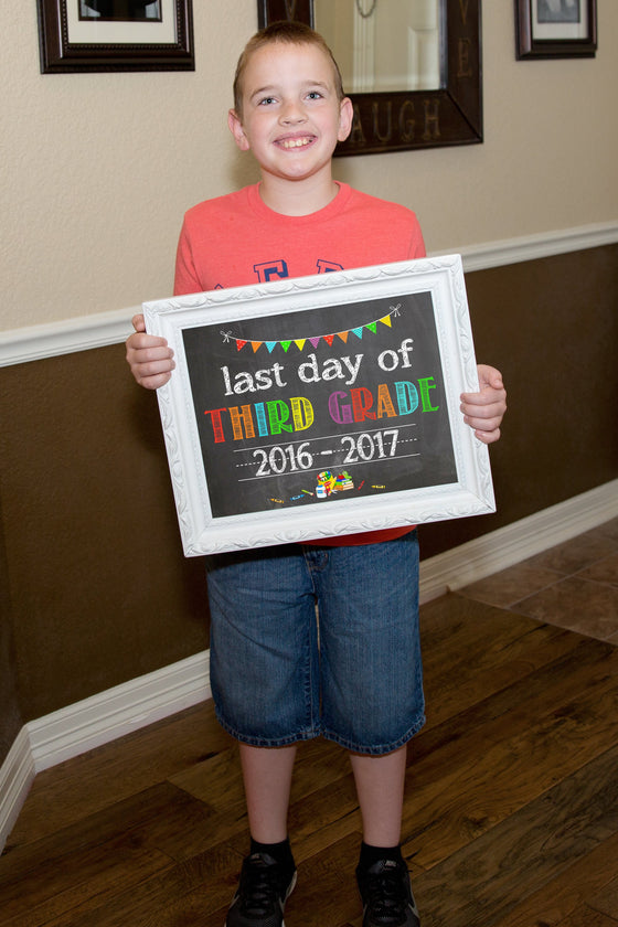 First Day of School Chalkboard, Last Day of School, ANY GRADE, any year SCHOOLCHALK0520