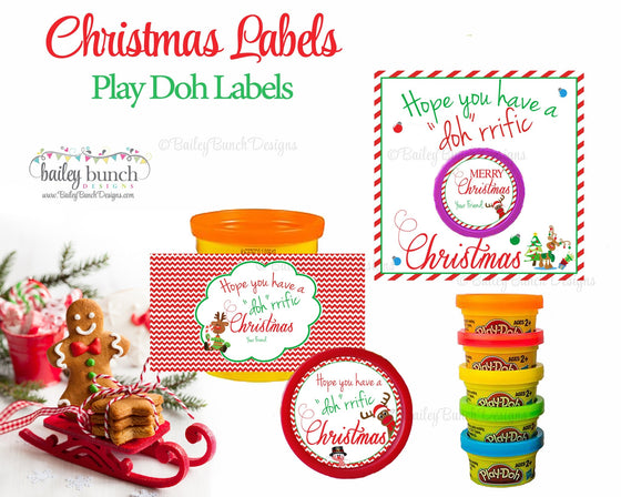 Playdoh Treat Bags, Christmas Favors IDPLAYDOH0520
