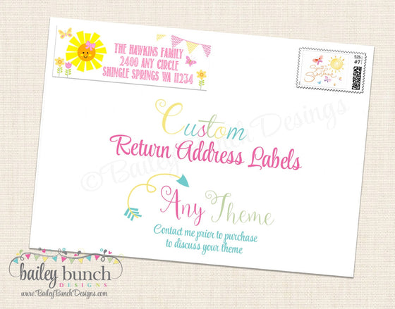 Custom Return Address Labels CUSTOMADR0520