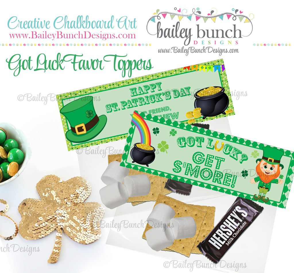Got Luck? Get S'more St. Patrick's Day Treat Tags, SMOREPATRICK0520