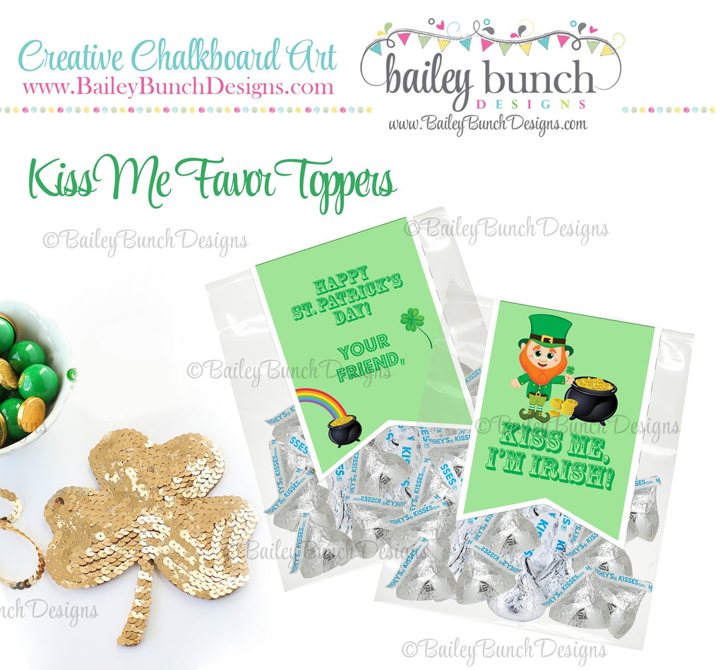Kiss Me I'm Irish St. Patrick's Day Treat Tags, IDKISSPATRICK0520