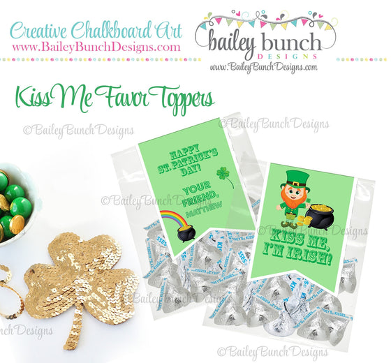 Kiss Me I'm Irish St. Patrick's Day Treat Tags, KISSPATRICK0520