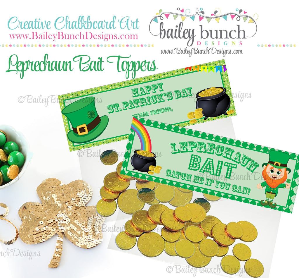 Leprechaun Bait St. Patrick's Day Treat Tags, IDLEPRECHAUN0520
