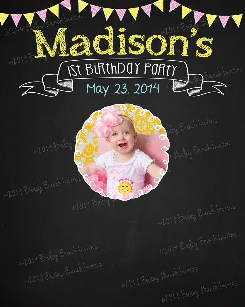 Event Party Sign In Board, Photo Memory, Birthday Chalkboard, Anniversary Sign In SIGNINCHALK0520