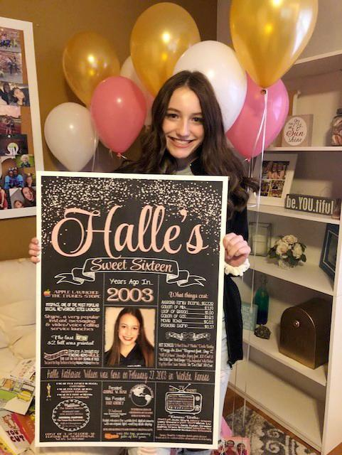 2020 New Design - Birthday Sign, Sweet 16, 16th Birthday PHOTO Chalkboard, Back in 2004 Board 16YR20040520
