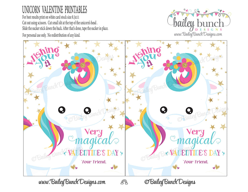 Magical Unicorn Valentines, IDVDAYUNICORN0520