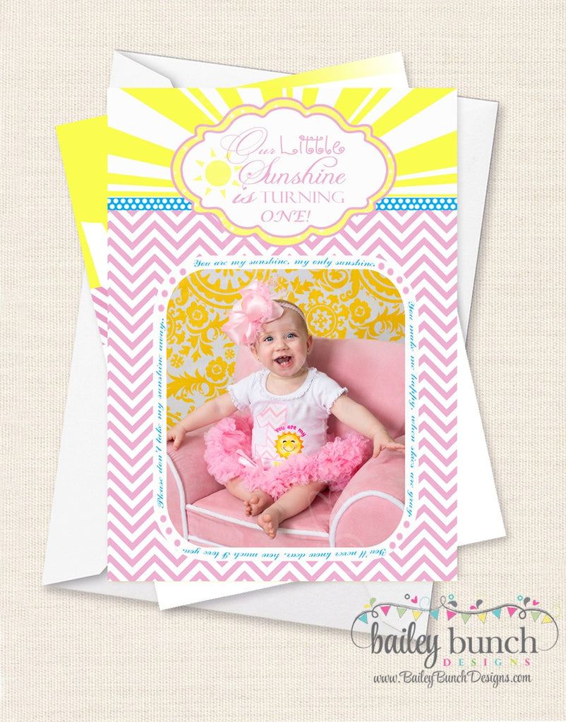 You are my Sunshine Birthday Invitations SUNINVITE0520