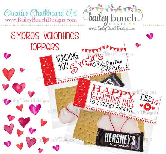 Sending you S'more Valentine Wishes Bag Toppers, Valentines IDVDAYSMORE0520