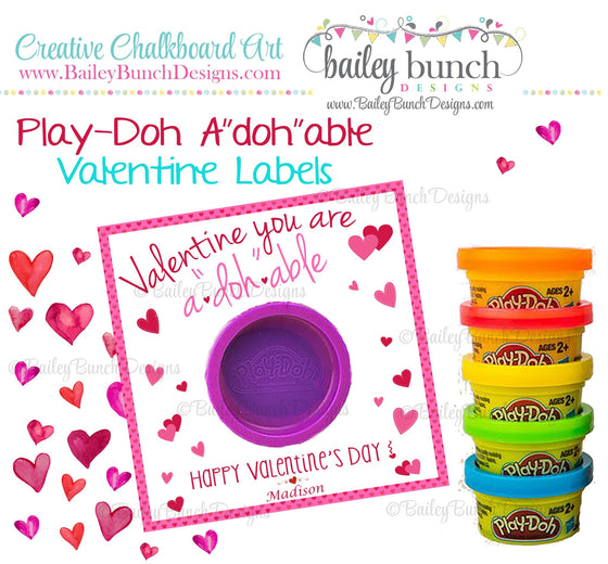 "Playdoh Valentines, Playdoh A""Doh""able Valentine Favors VDAYADOHABLE0520"