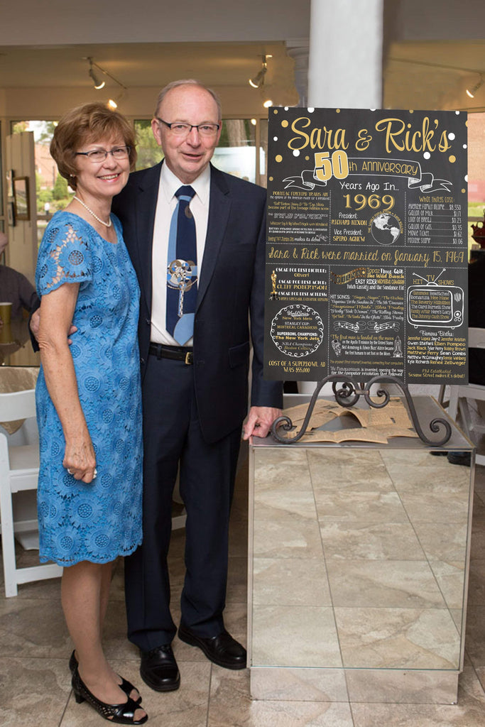 2019 New Design - Anniversary Sign, 50th WEDDING ANNIVERSARY Photo Chalkboard,1969 Anniversary Board ANNIV50CHALK0520