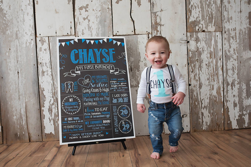 Milestone Birthday Chalkboard, Colors, First Birthday Board, COLORFULCHALK0520