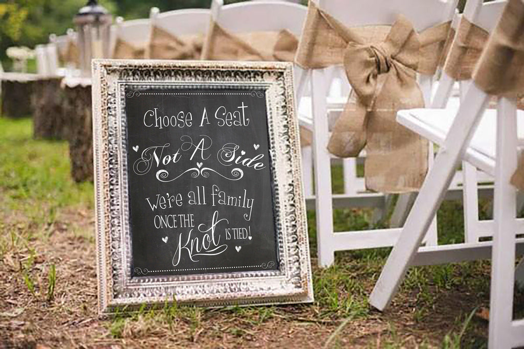 Wedding Chalkboard Sign, Choose a Seat not a Side, Wedding Decor, INSTANT IDCHOOSESEAT0520