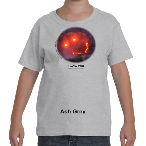 """I Lava You"" Children's short sleeve t-shirt with black ink"