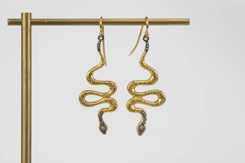 <small>Arman</small><br>Snake Drop Earrings
