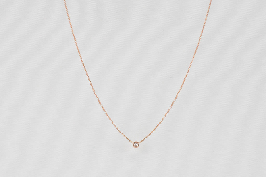Hortense Round Diamond Necklace | OK