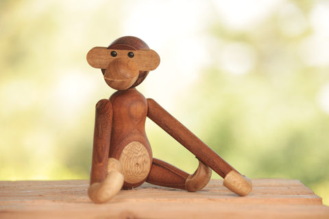 Kay Bojesen Hanging Wood Monkey | OK