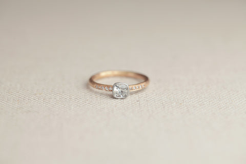 Malcolm Betts Cushion Cut Solitaire | OK