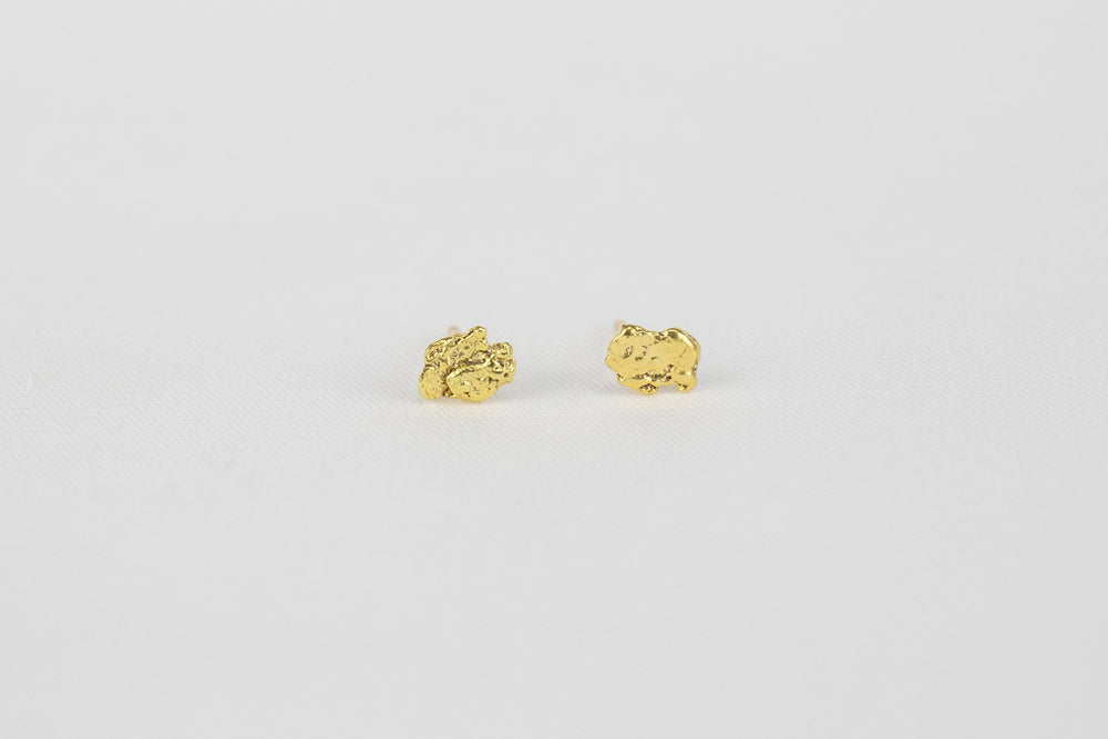 Load image into Gallery viewer, Gold Nugget Studs | OK