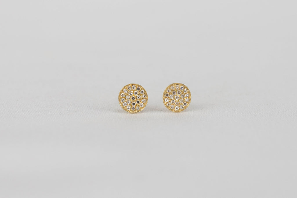 Pave Diamond Disc Studs | OK