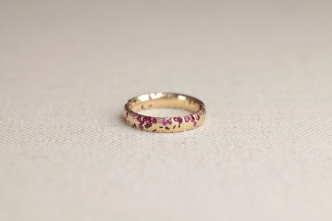 Polly Wales Narrow Crystal Ruby Ring | OK