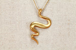 Large Snake Pendant Necklace