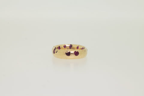 <small>Polly Wales</small><br>Ruby Red Wide Ring