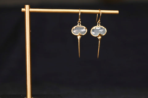 <small>Rachel Atherley</small><br>Aquamarine Moonstone Stingray Earrings