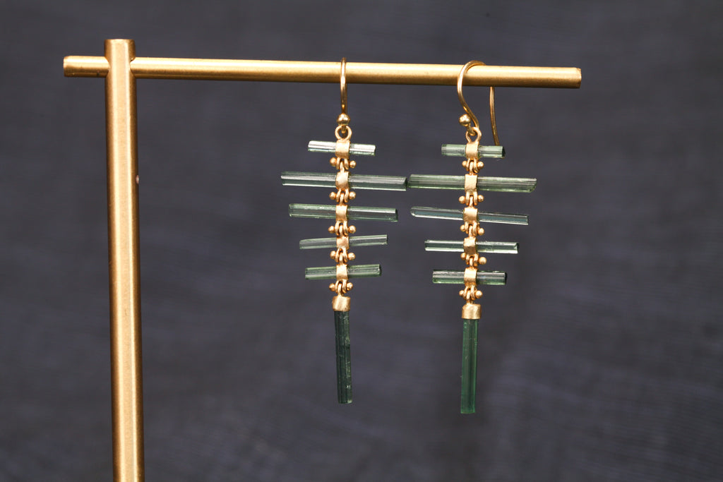 <small>Rachel Atherley</small><br>Tourlamine Fishbone Earrings