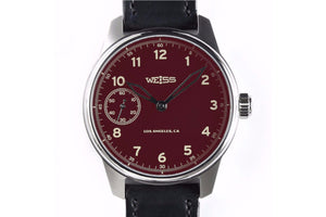 Load image into Gallery viewer, WEISS STANDARD ISSUE FIELD WATCH RED DIAL | OK