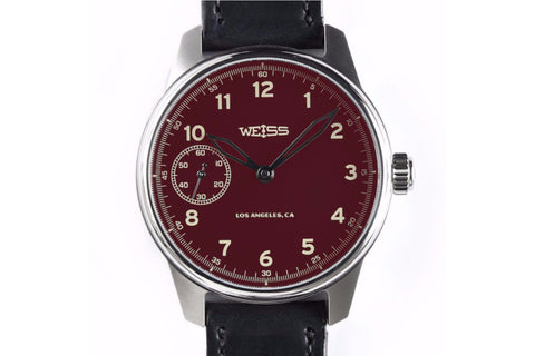 WEISS STANDARD ISSUE FIELD WATCH RED DIAL | OK