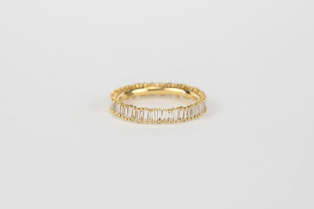Suzanne Kalan Baguette Eternity Band | OKSuzanne Kalan 18k Yellow Gold Small Baguette Eternity Band