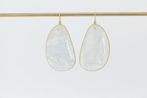 Load image into Gallery viewer, Tej Kothari Aquamarine Slice Earrings 18k yellow gold earwire ear wire | OK