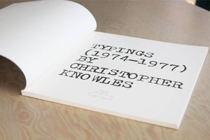 Typings by Christopher Knowles | OK
