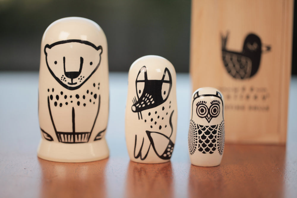 Forest Friends Nesting Dolls