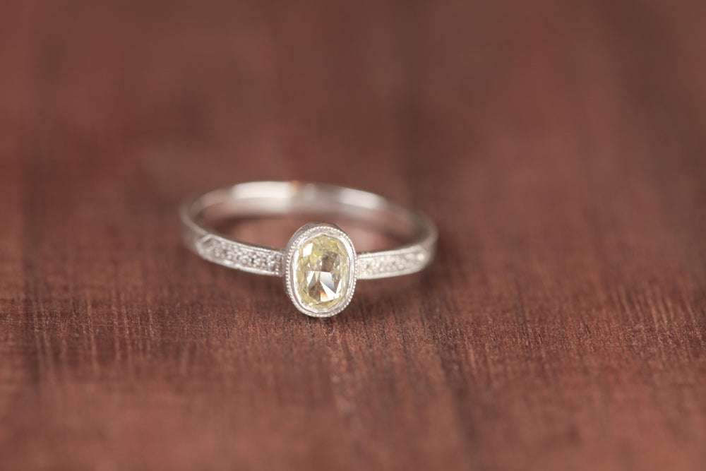 Load image into Gallery viewer, Jennifer Dawes Hewn Platinum Yellow Diamond Ring | OK