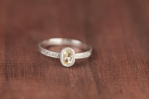 Jennifer Dawes Hewn Platinum Yellow Diamond Ring | OK