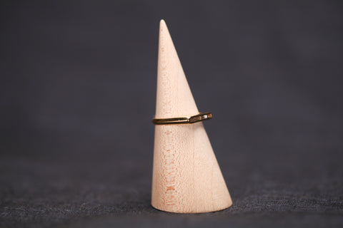 <small>Lizzie Mandler</small><br> White Baguette Diamond Ring