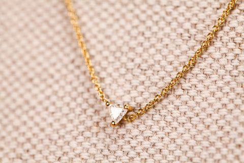 <small>Lizzie Mandler</small><br> Floating Trillion Diamond Necklace