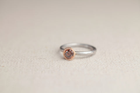 Malcolm Betts Cognac Diamond Platinum Ring | OK