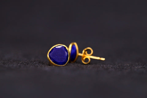 <small>Pippa Small</small><br> Lapis Stud Earrings