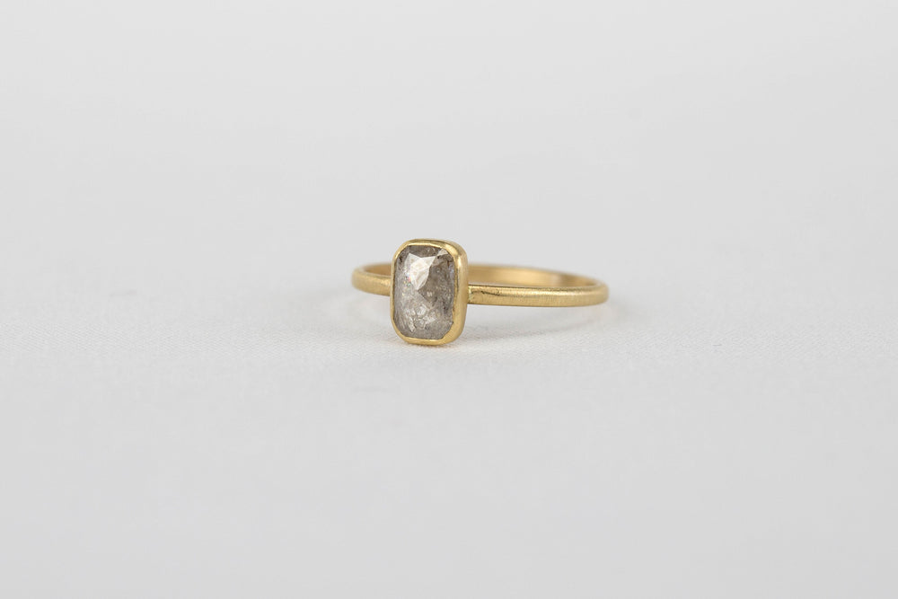 Load image into Gallery viewer, Rebecca Overmann Grey Diamond Stacker Ring | OK