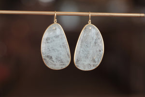 Tej Kothari Aquamarine Slice Earrings | OK
