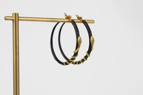 Arman Snake Hoop Earrings | OK