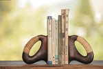 Aubock Bookends 3530 Patina with Cane