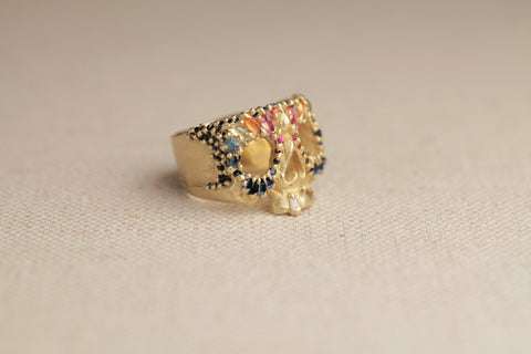 Polly Wales Jeweled Nebula Skull Ring | OK