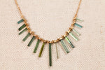 Tourmaline Fishbone Necklace